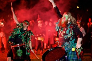 Wassailing - Pentacle Drummers - Photo: Hugh Wilton