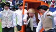 Sedan Chair Racing and Barrel Rolling at Cockermouth Georgian Fair
