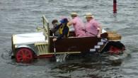 Cardboard boats take to the lake in Cumbria