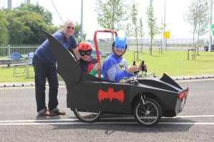 Humber Bridge Soapbox Derby 2016 - Batman & Robin