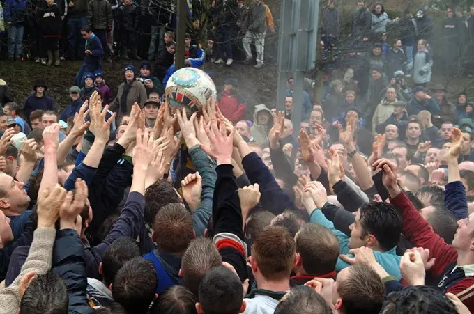 Ashbourne Royal Shrovetide Football - Visit Britain
