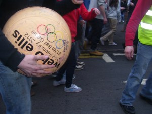 The Atherstone Ball Game on Shrove Tuesday (Photo: Adrian Roebuck)
