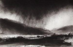 Jason Hicklin - Rainstorm, Windermere - Printfest 2017 - Ulverston Cumbria
