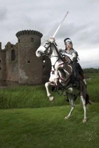 Spectacular Jousting returns - Caerlaverock Castle - Historic Environment Scotland