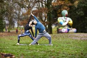 Yoga at Yorkshire Sculpture Park photo david lindsay