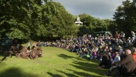 A swashbuckling theatre performance in a unique park
