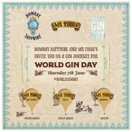 World Gin Day 2018 events London - Mr Fogg's