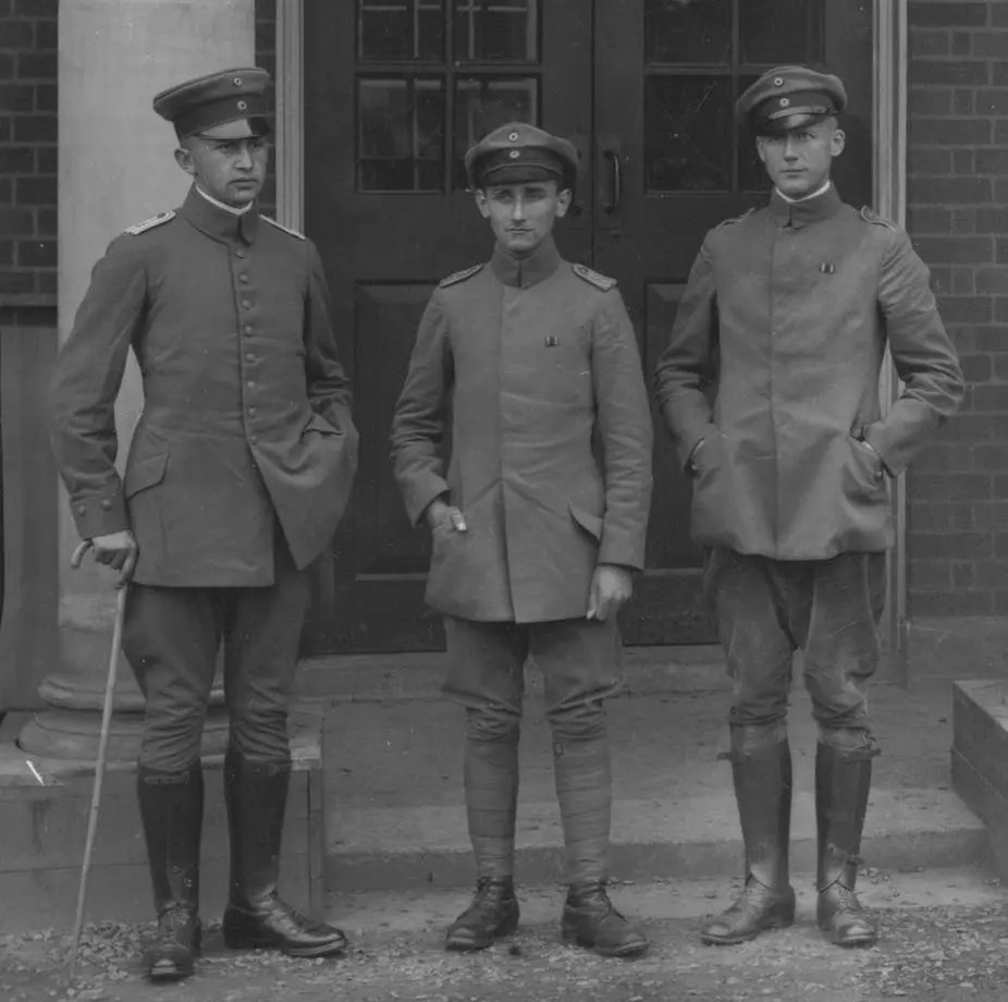 Three German PoW officers