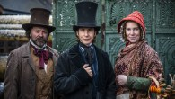 Mr Brunel poses with Victorian reenactors at the ss Great Britain during their Victorian Christmas weekend, 8 December 2018.