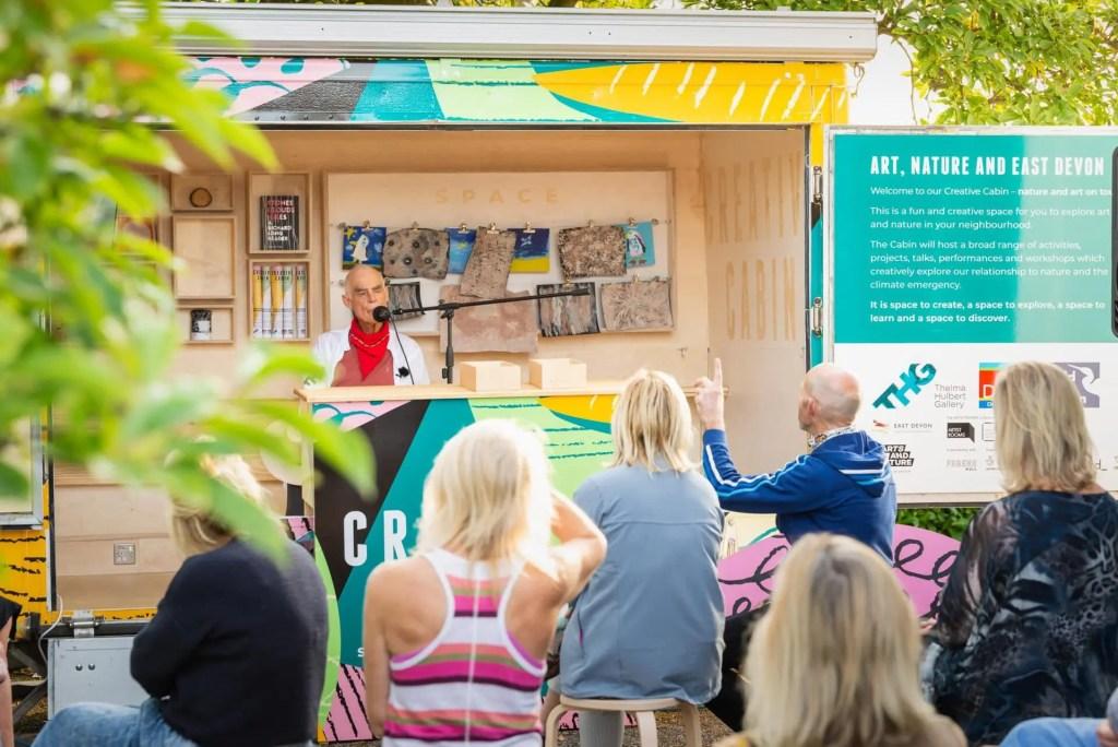 Creative Cabin on tour in Devon