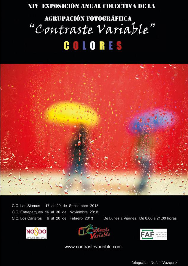 cartel exposición colores contraste variable sevilla