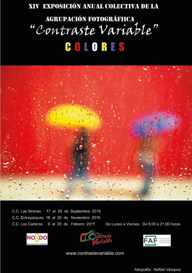 cartel exposición colores contraste variable sevilla