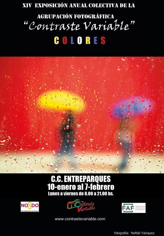 cartel exposición colores entreparques