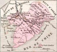 Les cartes des départements et possessions françaises en 1883