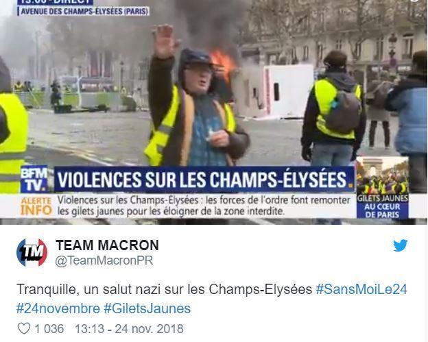 Fake News Les Macronistes Denoncent Un Gilet Jaune Faisant Un