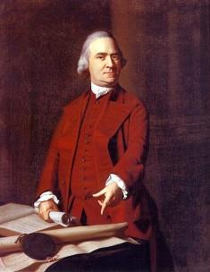 Samuel Adams par J S Copley (Image libre de droits)