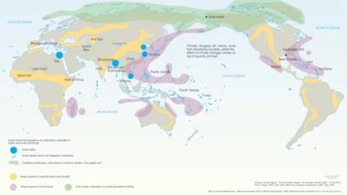 Réfugiés climatiques selon Le Monde Diplodocus
