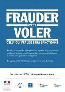 Frauder – ne volez pas, l'état n'aime pas la concurrence