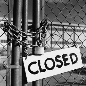 faillite d'entreprise - porte close