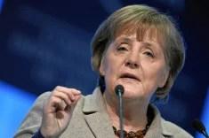 Angela Merkel à Davos (crédits : World Economic Forum, licence Creative Commons)