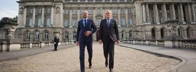 Charles Michel et Kris Peeters - source Facebook Charles Michel