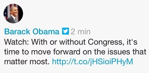Tweet Barack Obama Congrès