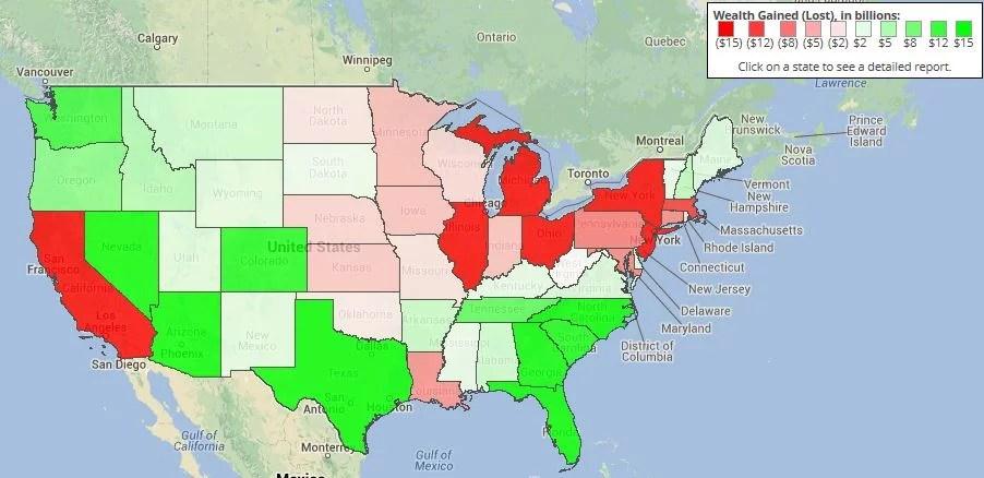 Evolution de la base taxable aux Etats-Unis (Crédits Dan Mitchell, tous droits réservés)
