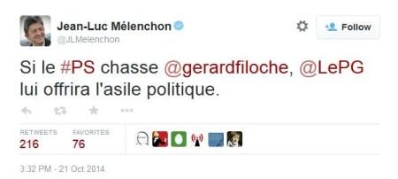 Tweet Mélenchon Total