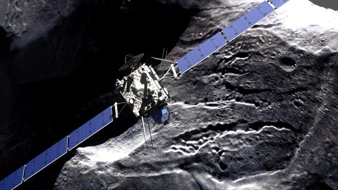 Rosetta_-_comet_fly-by Credit DLR German Aerospace Center (Creative Commons)