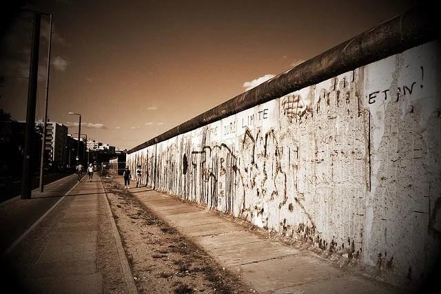 Vestige du mur de Berlin.