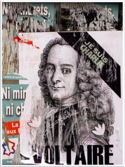 Voltaire Charlie - Marche Republicaine,Paris 11 Janvier 2015 - Cradit abac077 (Creative Commons)