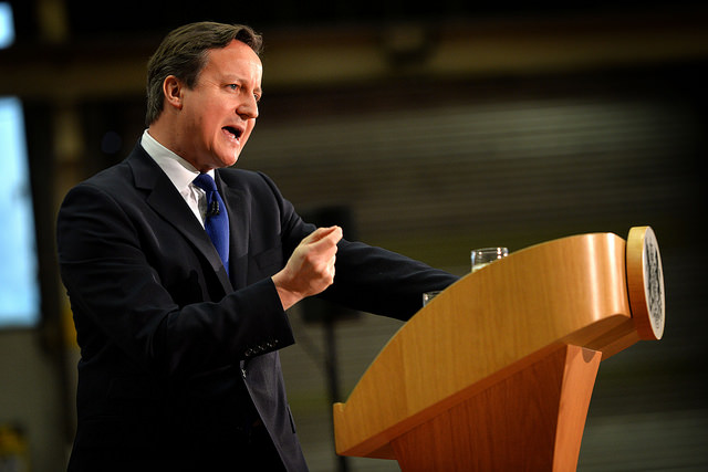 David Cameron (PM delivers speech on immigration at JCB Headquarters - Photo Arron Hoare - Credits Number 10 (CC BY-NC-ND 2.0)