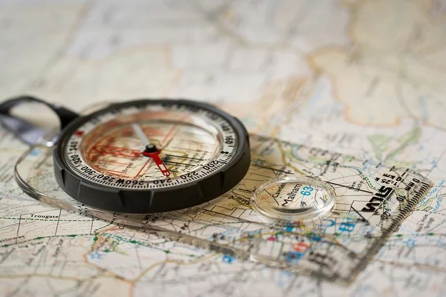 map and compass credits Jamie Dobson (CC BY-NC-ND 2.0)