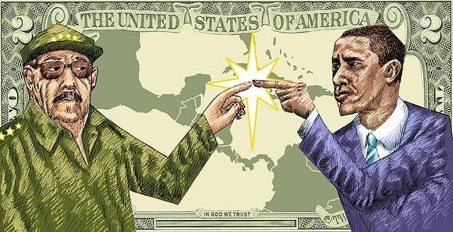Castro & Obama - Credits : Osvaldo Montero (CC BY-NC 2.0)