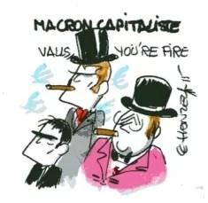 Macron capitaliste rené le honzec
