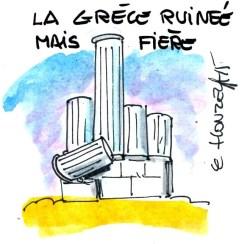 Grèce ruinée rené le honzec