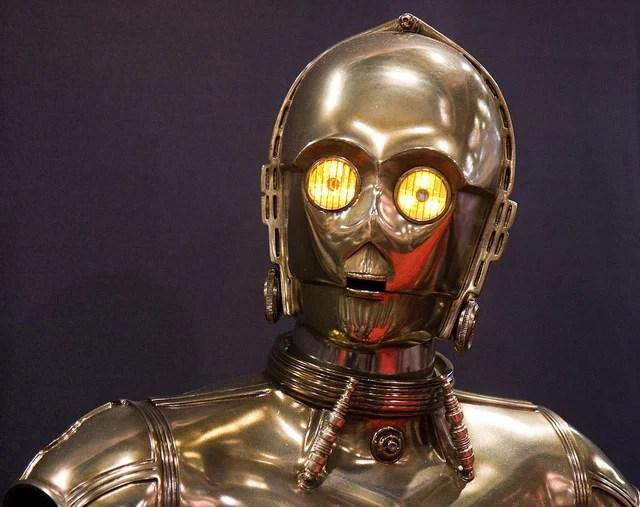 C3PO, droide de Star Wars (Crédits : Nathan Rupert, licence CC-BY-NC-ND 2.0), via Flickr.