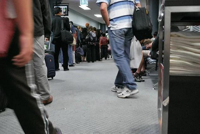 Adam Harvey-Airport queue(CC BY 2.0)