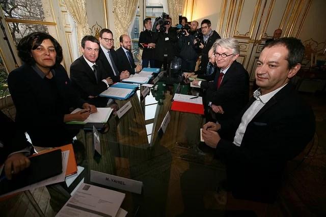 FO reçue par Valls-janvier 2016(CC BY-NC 2.0)