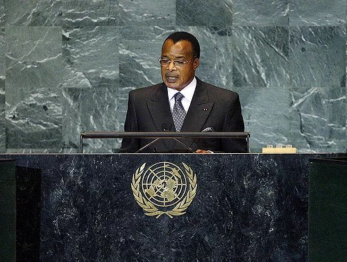 Denis Sassou Nguesso, President of the Republic of the Congo, addresses the general debate of the sixty-fourth session of the General Assembly. 25/Sep/2009. United Nations, New York. UN Photo/Marco Castro. www.unmultimedia.org/photo/