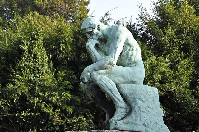 Le penseur de Rodin crédits Mphotographe (CC BY-NC-ND 2.0)