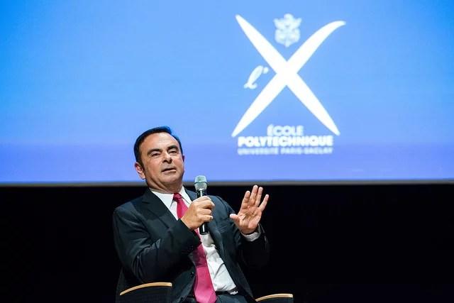 Conférence de Carlos Ghosn crédits Ecole polytechnique Université de Saclay (CC BY-SA 2.0)
