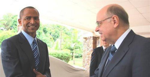 R.Meece et le Gouverneur du Katanga Moïse Katumbi
