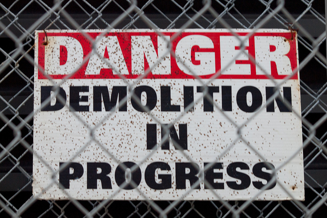 Demolition by Christopher Irwin(CC BY-NC 2.0)