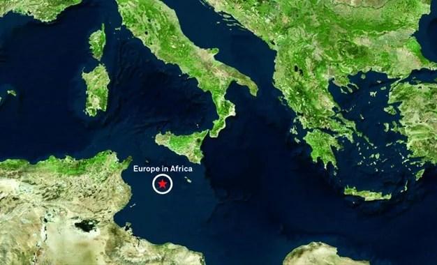 Migrations : l'architecte hollandais Theo Deutinger propose le projet «Europe en Afrique», une île artificielle, au large de la Tunisie.