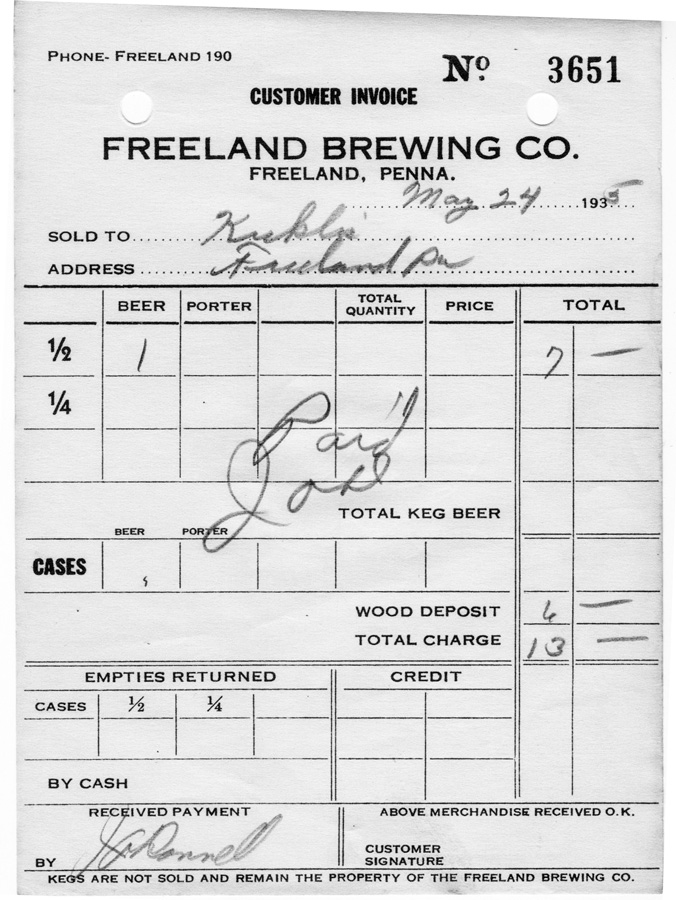 History of Freeland, Pa.