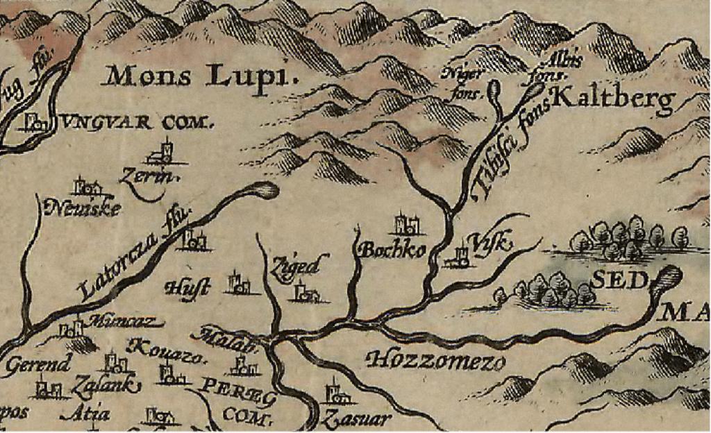 Harta Carpaţilor Nordici din anul 1579