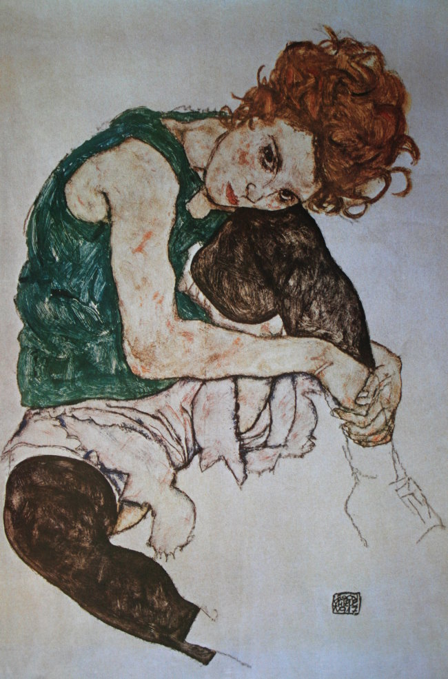 Egon Schiele  foto quadri  Ritratto dartista Lettere