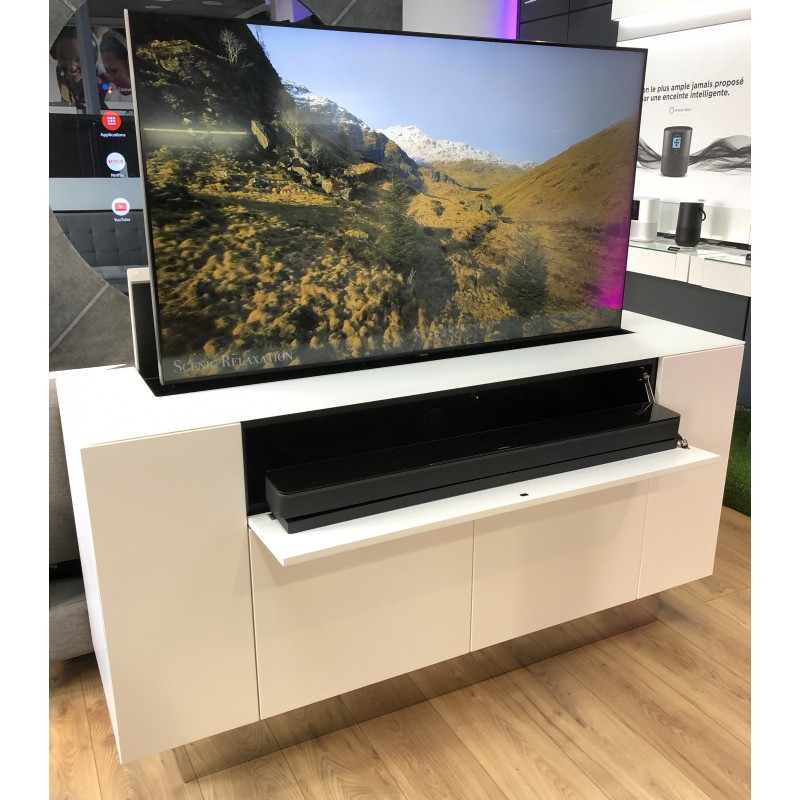 meuble tv elevateurs d ecran 55 avec