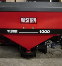 western low pro 1000 tailgate salt spreader with wireless remote control [ 2048 x 1536 Pixel ]